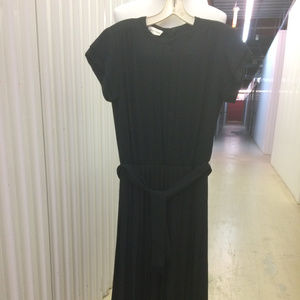 Albert Nippon Black Crepe Dinner Dress